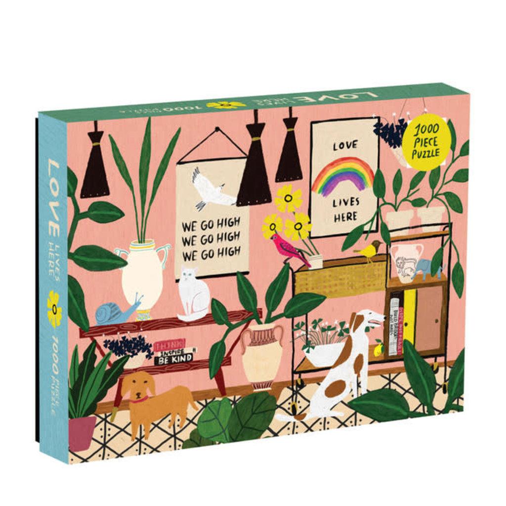 Galison Mudpuppy Anne Bentley Love Lives Here 1000 Piece Puzzle