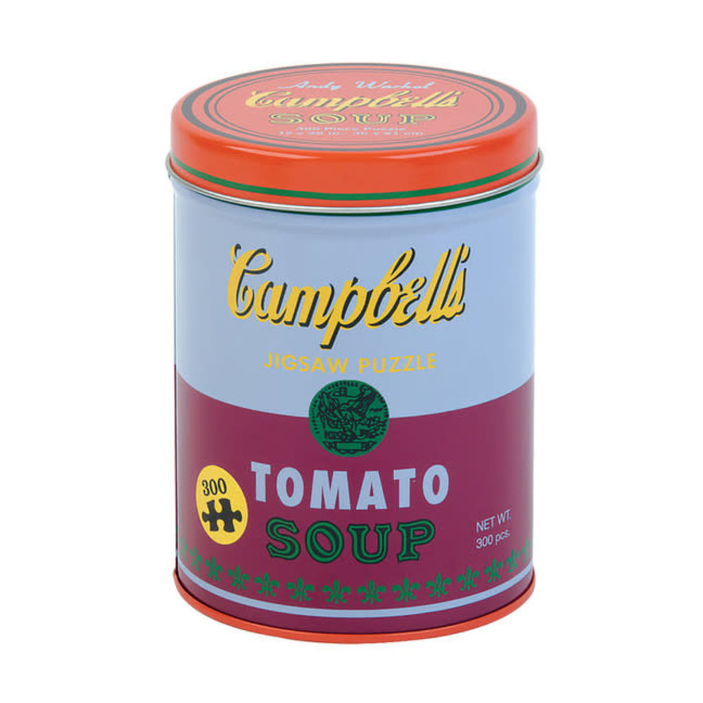 Galison Mudpuppy Andy Warhol Soup Can Red Violet 300 Piece Puzzle