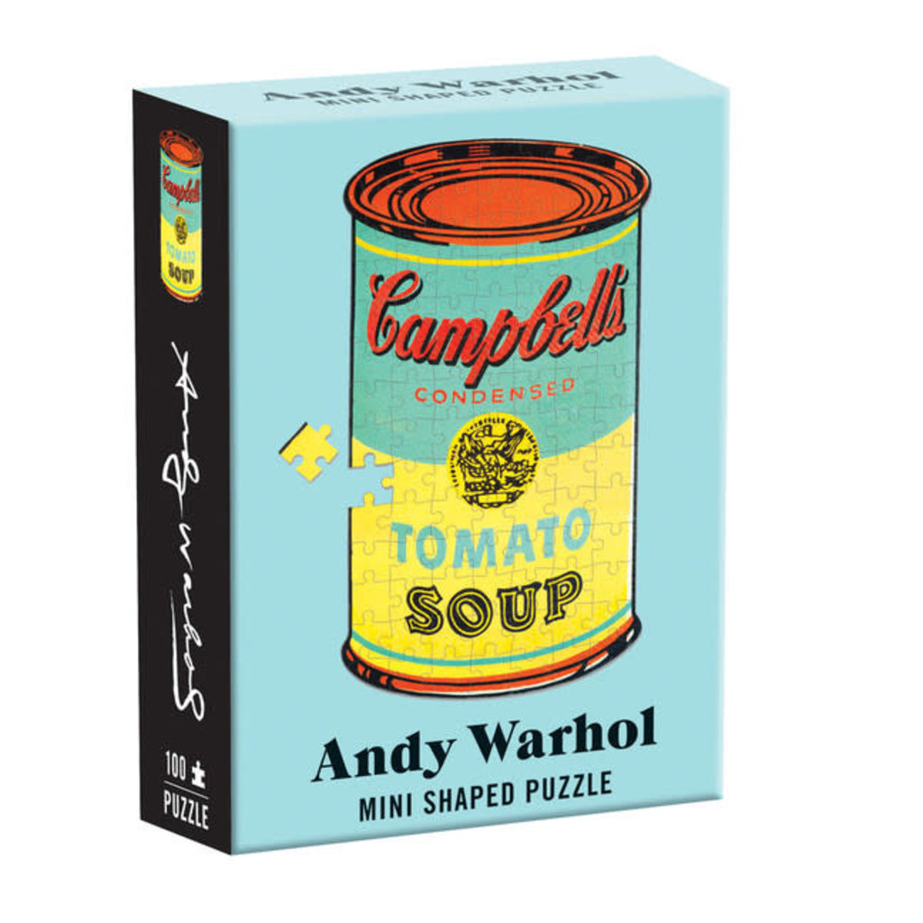 Galison Mudpuppy Andy Warhol Mini Shaped Puzzle Campbell's Soup