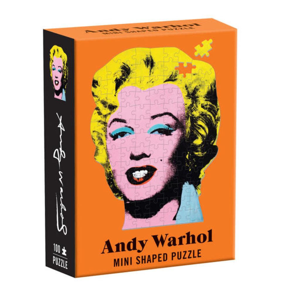 Galison Mudpuppy Andy Warhol Mini Shaped Puzzle Marilyn