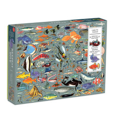 Galison Mudpuppy Deepest Dive 1000 Piece Puzzle with Shaped Pieces