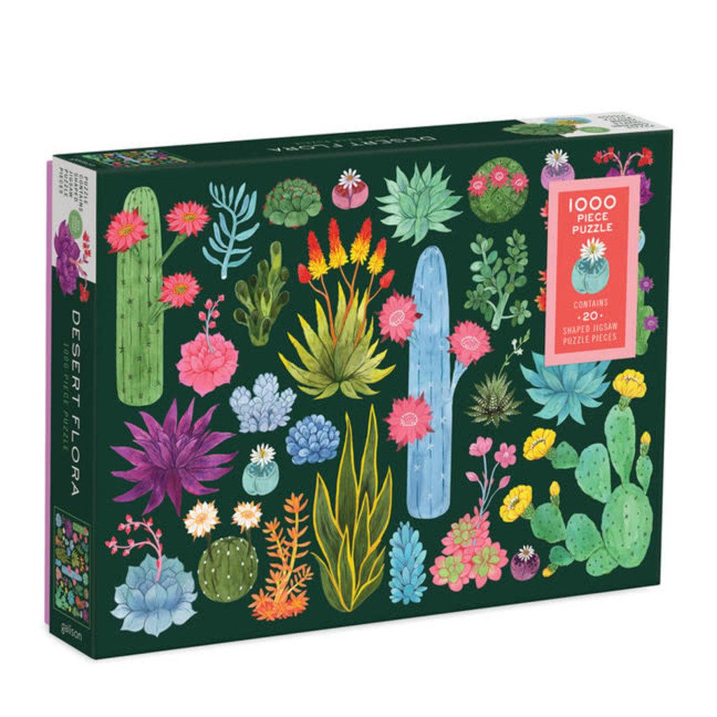 Galison Mudpuppy Desert Flora 1000 Piece Puzzle with Shaped Pieces
