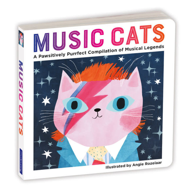 Galison Mudpuppy Music Cats Board Book