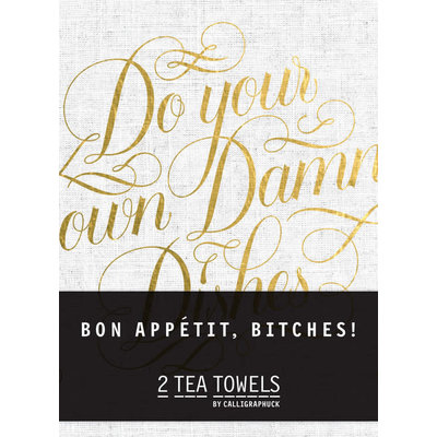 Chronicle Books Bon, Appetit Bitches! Tea Towels