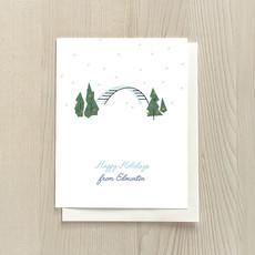 Vivid Print Happy Holidays from Edmonton Box Of Six Cards