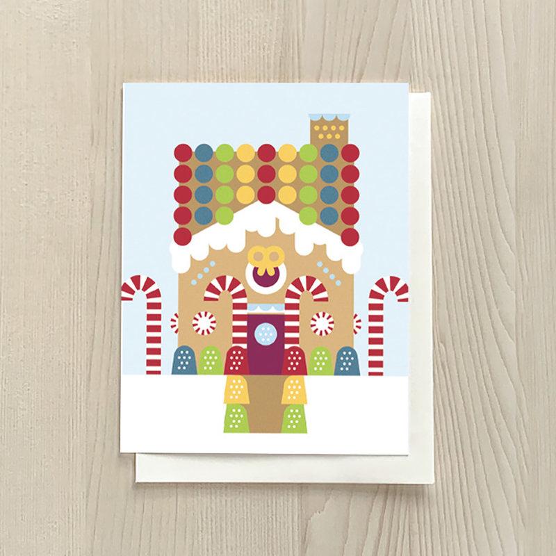 Vivid Print Gingerbread Box Of Six Cards