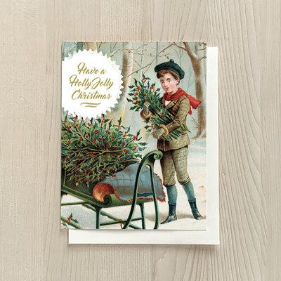 Vivid Print Holly Jolly Boy Box Of Six Cards