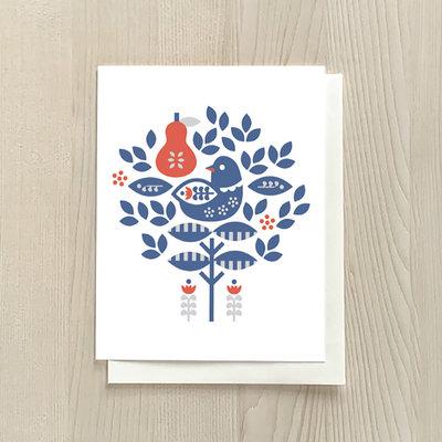 Vivid Print Partridge Box Of Six Cards