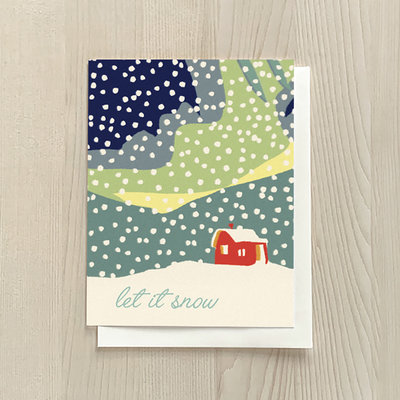 Vivid Print Let It Snow Box Of Six Cards