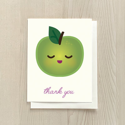 Vivid Print Apple Thank You Box of Six Cards
