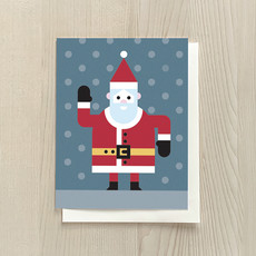 Vivid Print Santa Box Of Six Cards