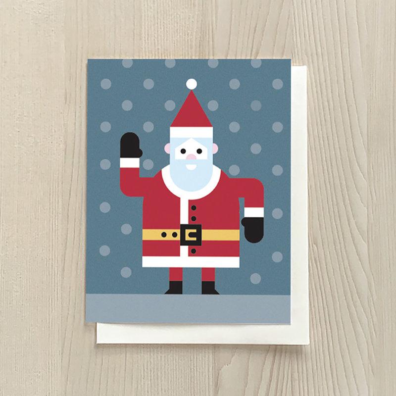 Vivid Print Santa Box Of Six Cards