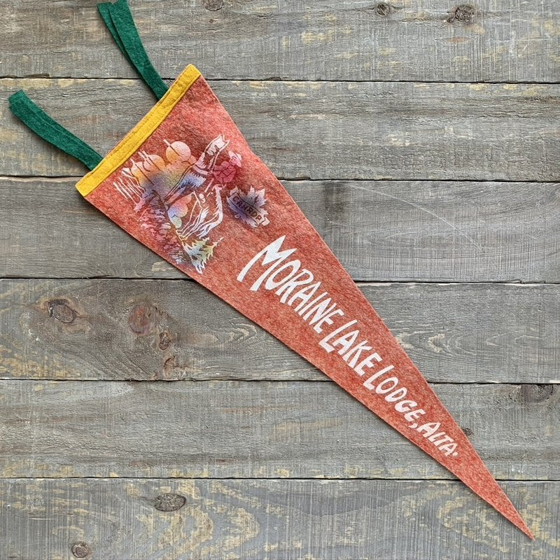 Vivid Vintage Vintage Moraine Lake Lodge Pennant Red
