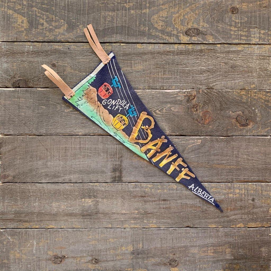 Vivid Vintage Vintage Banff Gondola Pennant Blue