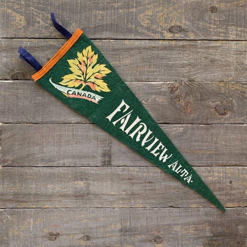 Vivid Vintage Vintage Fairview Pennant Green