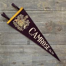 Vivid Vintage Vintage Camrose Pennant Burgundy
