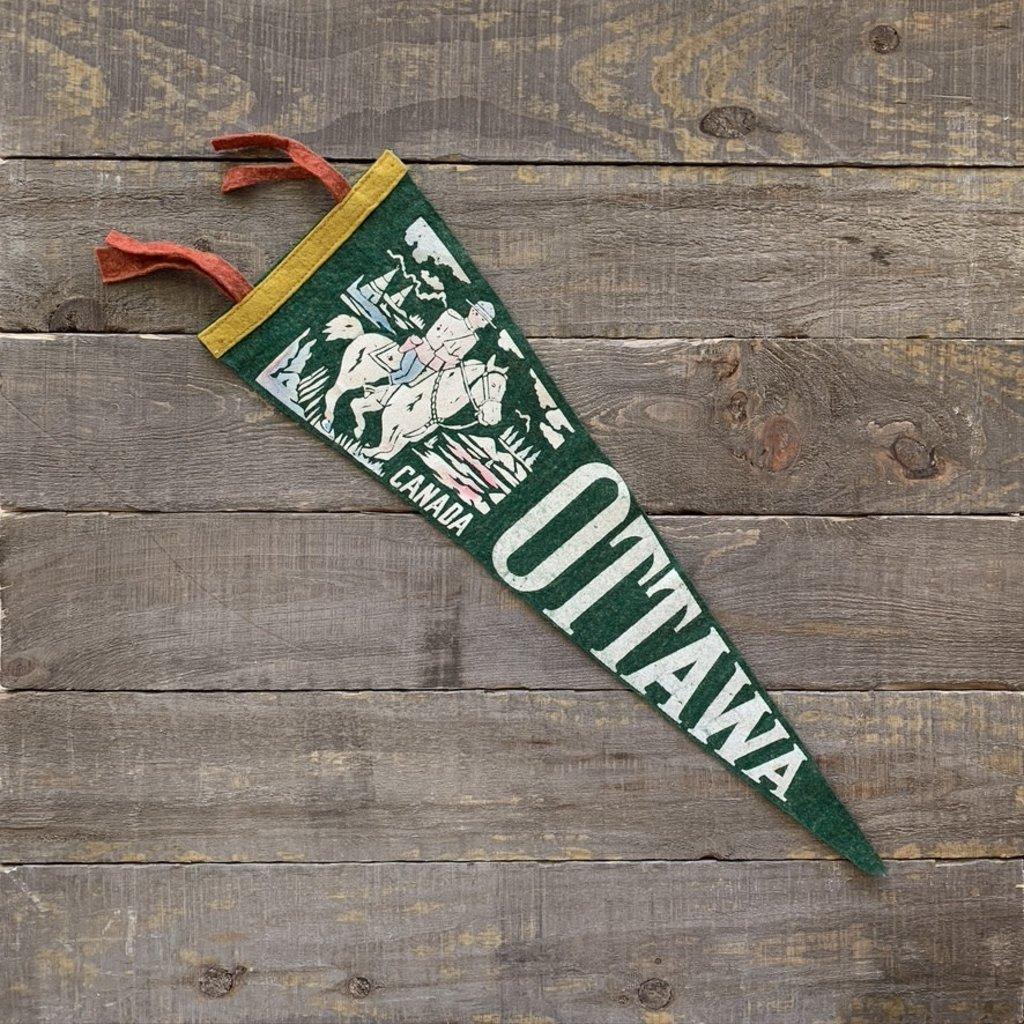 Vivid Vintage Vintage Ottawa Pennant Green