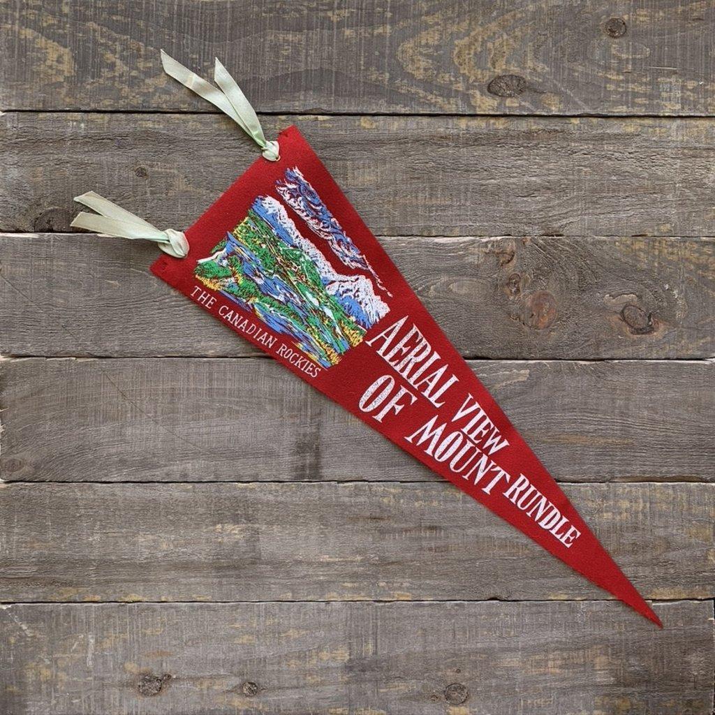Vivid Vintage Vintage Mount Rundle Pennant Red