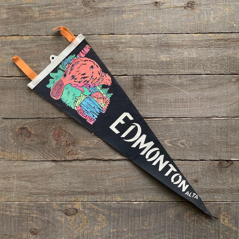 Vivid Vintage Vintage Edmonton Pennant Black
