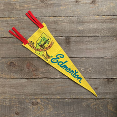Vivid Vintage Vintage Edmonton Pennant Yellow