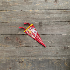 Vivid Vintage Vintage Columbia Ice Fields  Pennant Red
