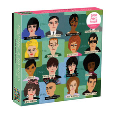 Galison Mudpuppy History of Hairdos 1000 Piece Puzzle In Square Box