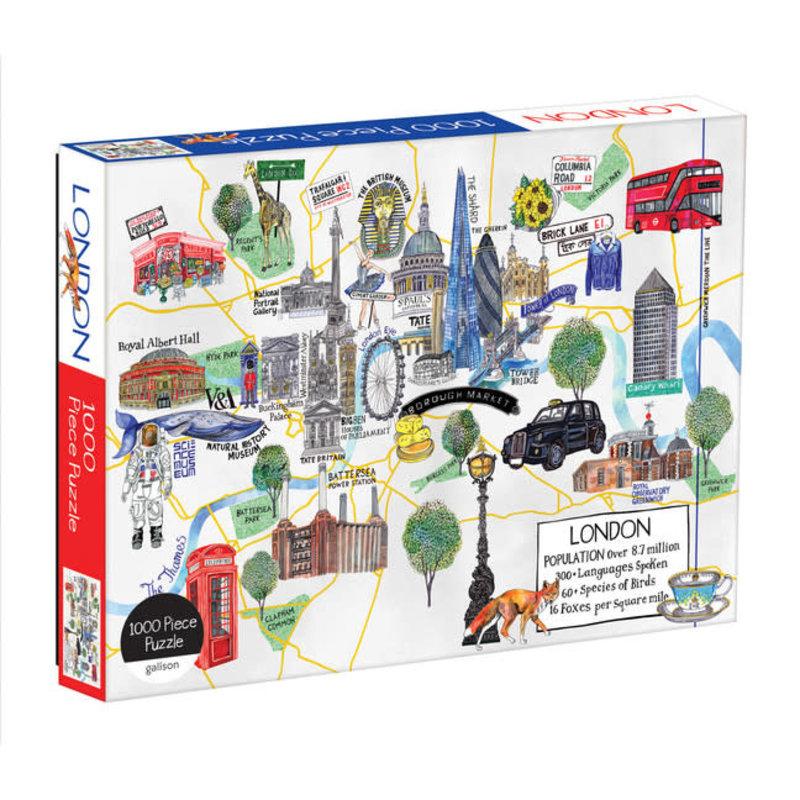 Galison Mudpuppy London Map 1000 Piece Puzzle