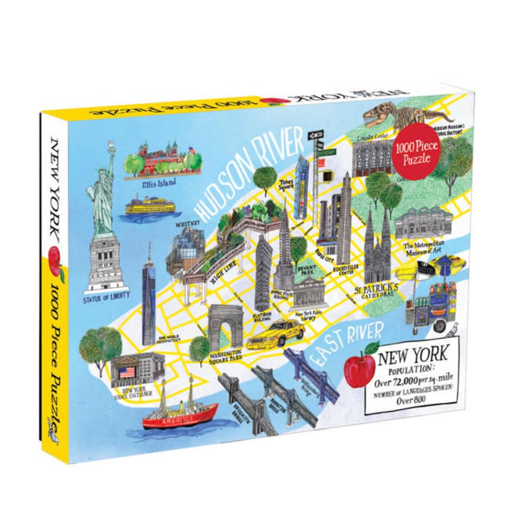 Galison Mudpuppy New York City Map 1000 Piece Puzzle