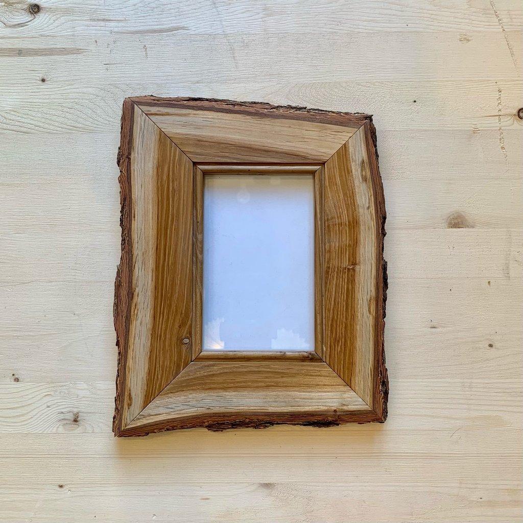 Vivid Print Live Edge Bur Oak Frame