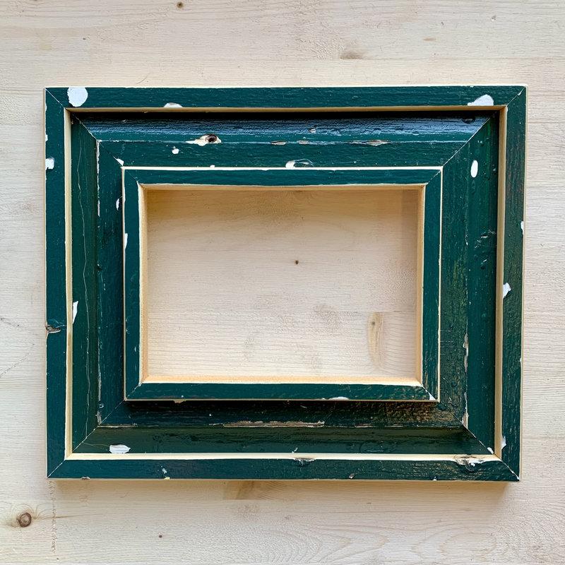 Vivid Print Reclaimed Barnwood Frame Green
