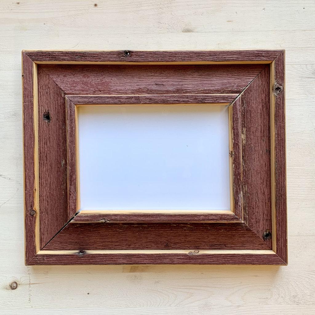 Vivid Print Reclaimed Barnwood Frame Red