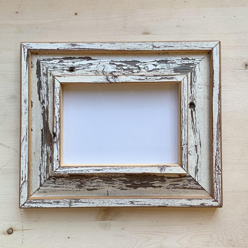 Vivid Print Reclaimed Barnwood Frame White
