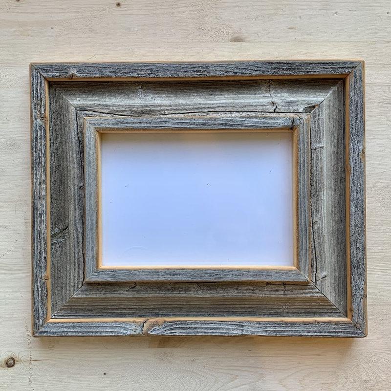 Vivid Print Reclaimed Barnwood Frame Grey