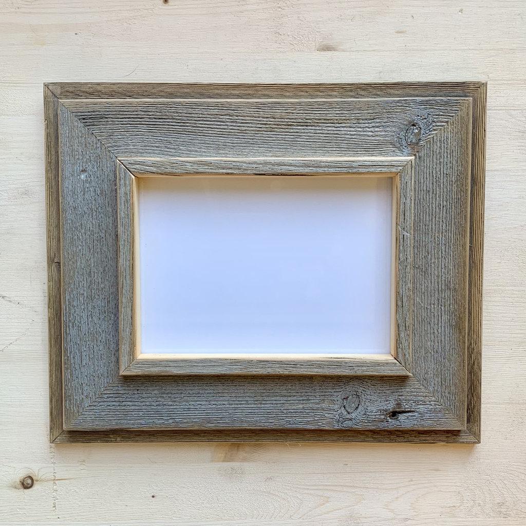 Vivid Print Reclaimed Barnwood Frame Grey Mid