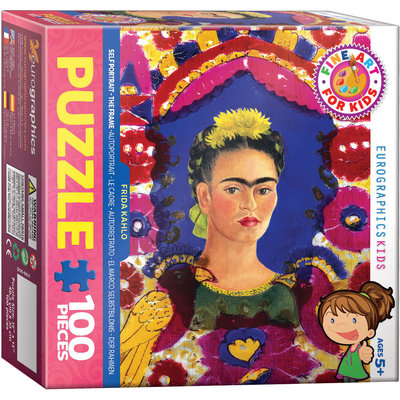Eurographics Frida Kahlo - Self Portrait - The Frame Jigsaw Puzzle