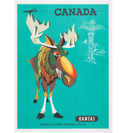 Vivid Print Qantas, Australia's round the world airline : Canada