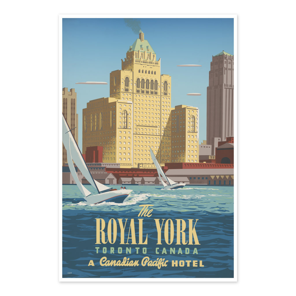 Vivid Print The Royal York, Toronto, Canada A Canadian Pacific hotel