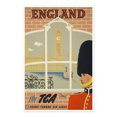 Vivid Print England - fly TCA, Trans-Canada Air Lines