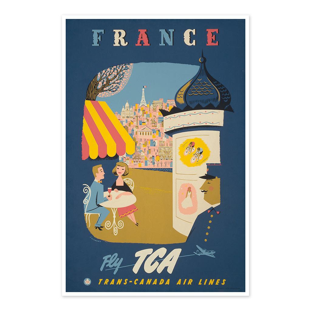 Vivid Print France - fly TCA, Trans-Canada Air Lines