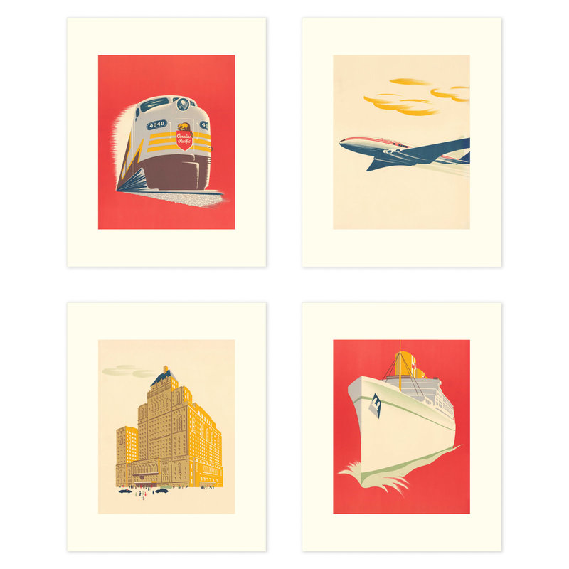 Vivid Print CP Modern Set of Four