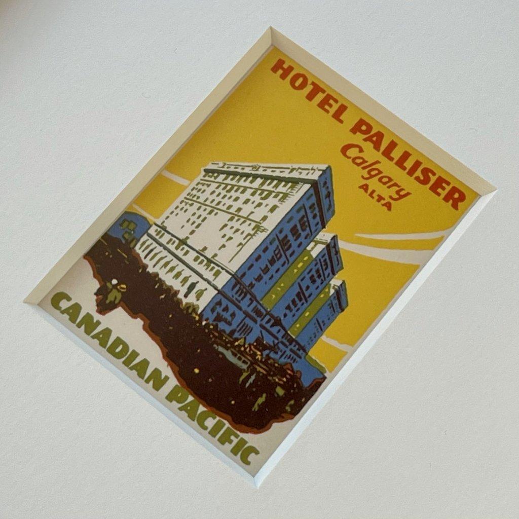 Vivid Vintage Hotel Palliser Framed Vintage Luggage Label