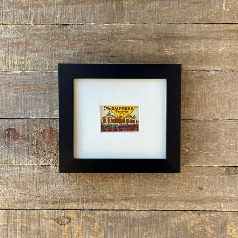 Vivid Vintage The Empress Hotel Framed Vintage Luggage Label