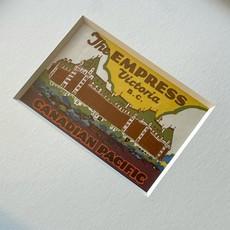 Vivid Vintage The Empress Hotel Framed Vintage Luggage Label