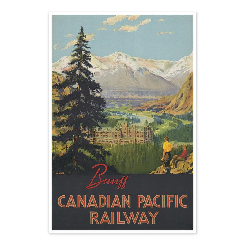 Vivid Print Banff Canadian Pacific Railway / / Trompf.