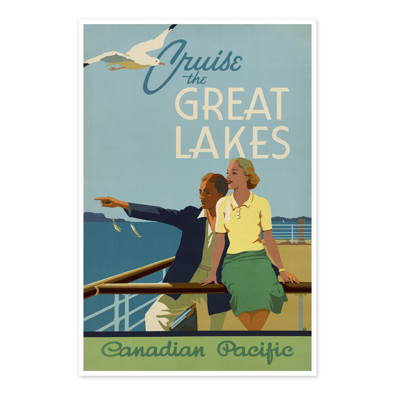 Vivid Print Cruise the Great Lakes Canadian Pacific