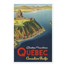 Vivid Print Château Frontenac, Québec Canadian Pacific