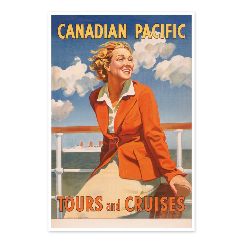 Vivid Print Canadian Pacific Tours and Cruises