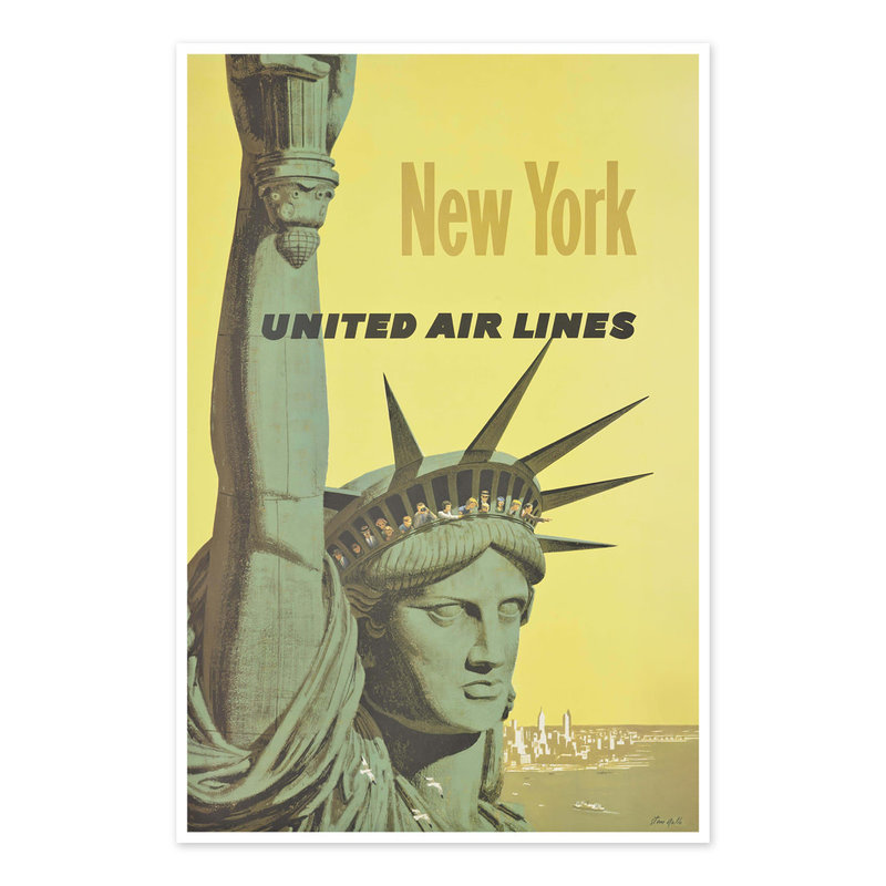 Vivid Print New York United Airlines
