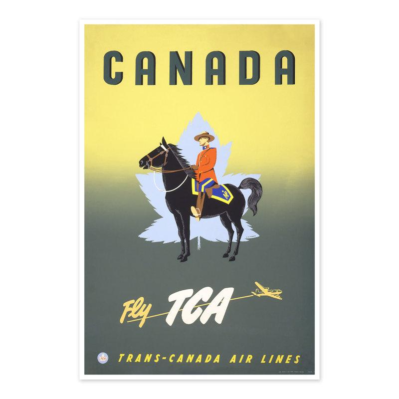 Vivid Print Canada - fly TCA, Trans-Canada Air Lines