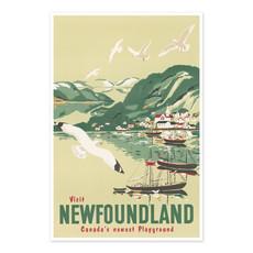 Vivid Print Visit Newfoundland, Canada's newest playground